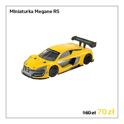 Model samochodu Renault Meganer RS w skali 1:43