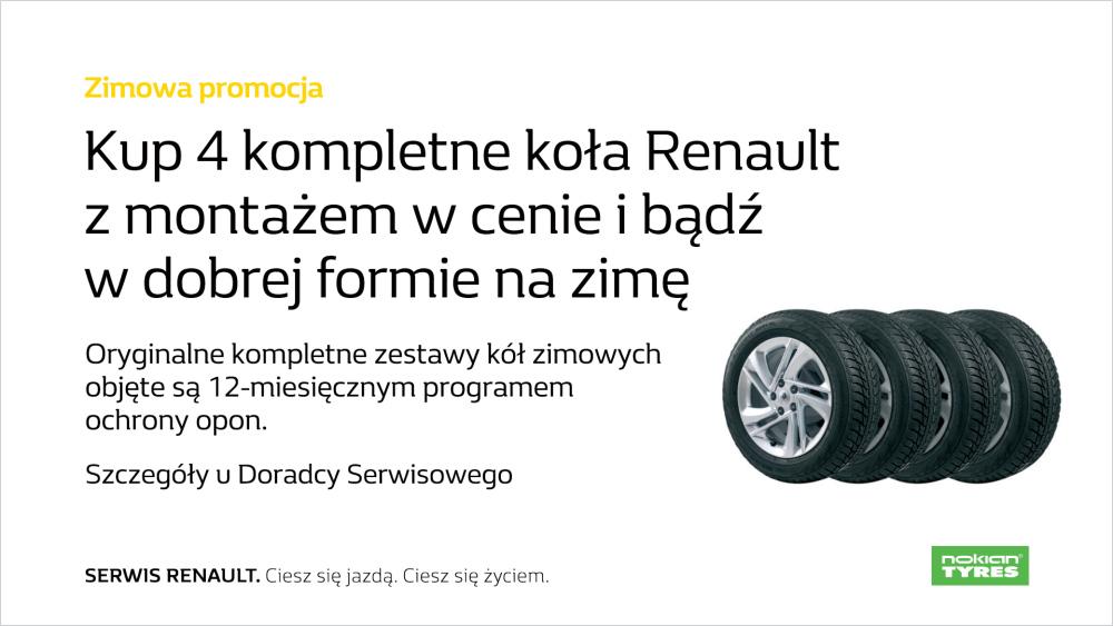 Kup 4 Kompletne Koła Renault Z Montażem W Cenie Renault Katowice